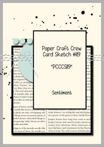 Paper Craft Crew Card Sketch 119 #cardsketch #stampinup #papercraftcrew