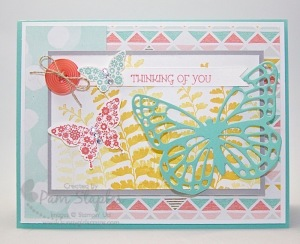 Paper Craft Crew Card Sketch #123 design team submission by Pam Staples. #stampinup #papercrafts #pamstaples #sunnygirlscraps