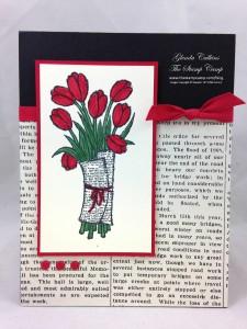 Paper Craft Crew Card Sketch #127 design team submission by Glenda Calkins. #stampinup #papercrafts