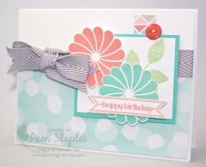 Paper Craft Crew Card Sketch #126 design team submission by Pam Staples. #stampinup #papercrafts #pamstaples #sunnygirlscraps