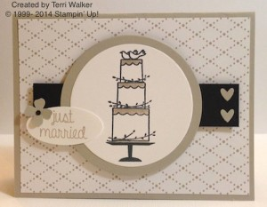 Paper Craft Crew Card Sketch #129 design team submission by Terri Walker. #stampinup #papercraftcrew #terriwalker