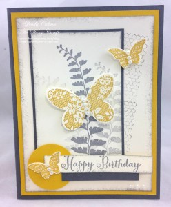 Paper Craft Crew Card Sketch #133 design team submission by Glenda Calkins. #stampinup #papercrafts