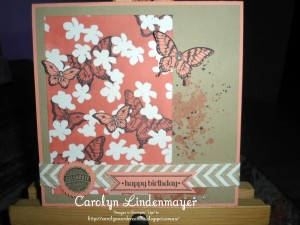 Paper Craft Crew Card Sketch #133 design team submission by Carolyn Lindenmayer. #stampinup