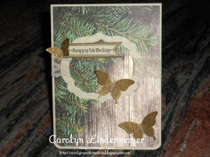 Paper Craft Crew Card Sketch #131 design team submission by Carolyn Lindenmayer. #stampinup