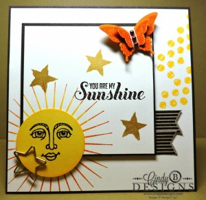 Paper Craft Crew Card Sketch #133 design team submission by Cindy Coutts. #stampinup #cindycoutts