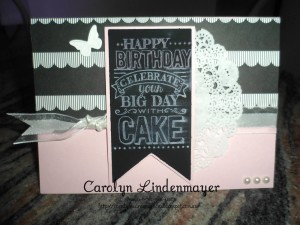 Paper Craft Crew Card Sketch #135 design team submission by Carolyn Lindenmayer. #stampinup