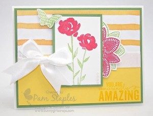 Paper Craft Crew Card Sketch #135 design team submission by Pam Staples. #stampinup #papercrafts #pamstaples #sunnygirlscraps