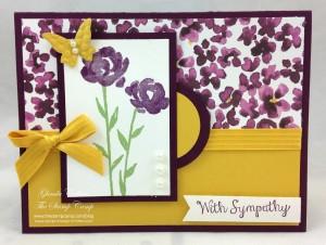 Paper Craft Crew Card Sketch #135 design team submission by Glenda Calkins. #stampinup #papercrafts #glendacalkins