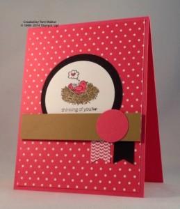 Paper Craft Crew Card Sketch #140 design team submission by Terri Walker. #stampinup #papercraftcrew #terriwalker