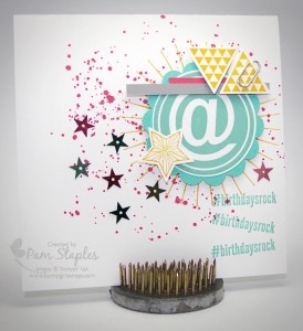 Paper Craft Crew Card Sketch #142 design team submission by Pam Staples. #stampinup #papercrafts #pamstaples #sunnygirlscraps
