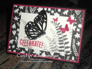 Paper Craft Crew Card Sketch #147 design team submission by Carolyn Lindenmayer. #stampinup