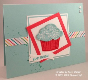 Paper Craft Crew Card Sketch #150 design team submission by Terri Walker. #stampinup #terriwalker