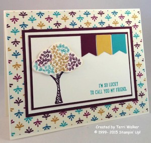 Paper Craft Crew Card Sketch #147 design team submission by Terri Walker. #stampinup #terriwalker