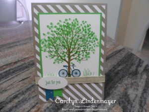 Paper Craft Crew Card Sketch #155 design team submission by Carolyn Lindenmayer. #stampinup