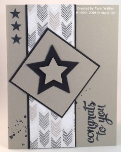 Paper Craft Crew Card Sketch #152 design team submission by Terri Walker. #stampinup #terriwalker