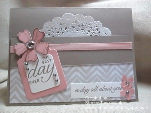 Paper Craft Crew Card Sketch #153 design team submission by Stacey Tomkowiak. #stampinup #papercraftcrew #staceytomkowiak