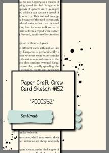 Paper Craft Crew Card Sketch 152. #stampinup #blogcandy #papercraftcrew
