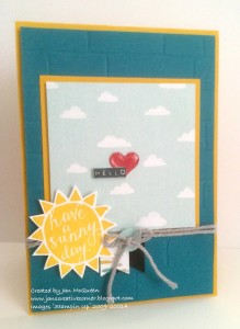 Paper Craft Crew Card Sketch #155 design team submission by Jan McQueen. #stampinup #papercraftcrew #janmcqueen