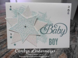 Paper Craft Crew Card Sketch #159 design team submission by Carolyn Lindenmayer. #stampinup