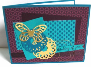 Paper Craft Crew Card Sketch #144 design team submission by Janice Rosenthal. #stampinup #papercraftcrew #janicerosenthal