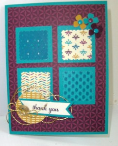 Paper Craft Crew Challenge #165 design team submission by Janice Rosenthal. #stampinup #papercraftcrew #janicerosenthal