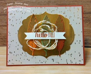 Paper Craft Crew Challenge #167 design team submission by Crystal Komara. #stampinup #papercraftcrew #crystalkomara
