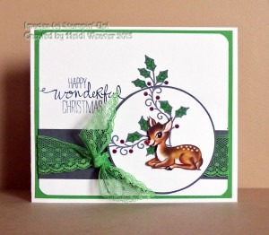Paper Craft Crew Challenge #168 design team submission by Heidi Weaver. #stampinup #papercraftcrew #heidiweaver