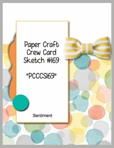 Paper Craft Crew Challenge 169. #papercraftcrew #cardsketch
