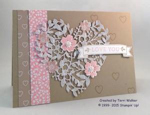Paper Craft Crew Card Sketch #169 design team submission by Terri Walker. #stampinup #terriwalker