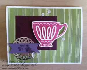 PCCC 182 A Nice Cuppa submitted by Tracie Langley. #tracielangley #stampinup #papercraftcrew #cardsketch