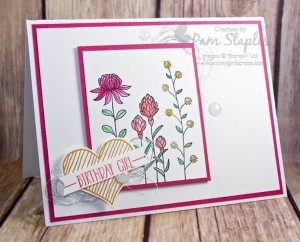 Paper Craft Crew Design Team submission by Pam Staples for Sketch Challenge 182. #pamstaples #sunnygirlscraps #stampinup #themechallenge #papercraftcrew