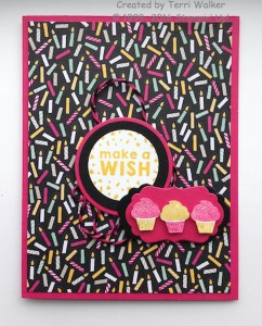 Party Wishes Paper Craft Crew Challenge 185 submission by design team member Terri Walker. #stampinup #papercraftcrew #terriwalker