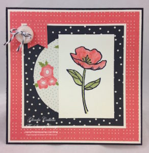 Pretty Petals Stack Paper Craft Crew Card Sketch 191 design team submission by Glenda Calkins. #stampinup #papercrafts #glendacalkins