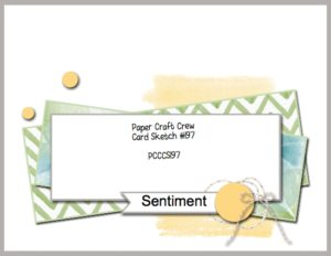 Welcome to the Paper Craft Crew Card Sketch Challenge 197. Play along at www.papercraftcrew.com #papercraftcrew #cardsketch