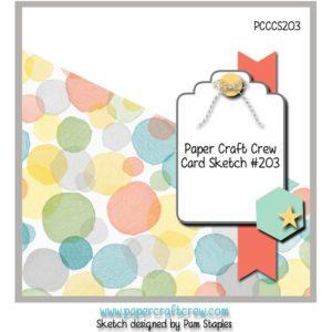 Paper Craft Crew Card Sketch Challenge 203 #sketch #challengeblog #pcc #papercraftcrew