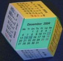 Rhombic dodecahedron calendar