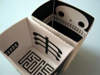 Inside view of Skeletron papercraft robot