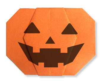Halloween Origami pumpkin