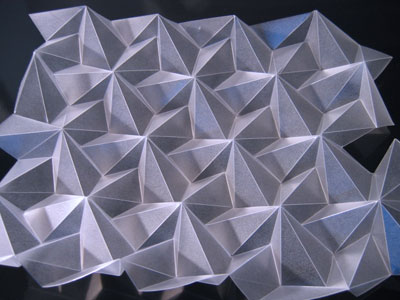 Folded plastic origami
