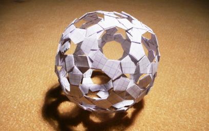 Origami sphere
