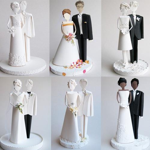 Silhouette Rosette Wedding Cake