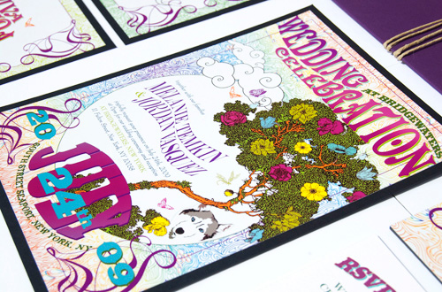 Hippie Wedding Invitation Peace Sign