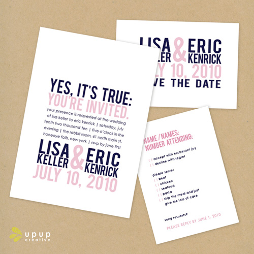 Wedding Invitations Eco Friendly: The Eco-Friendly Wedding Collection From Up Up Creative