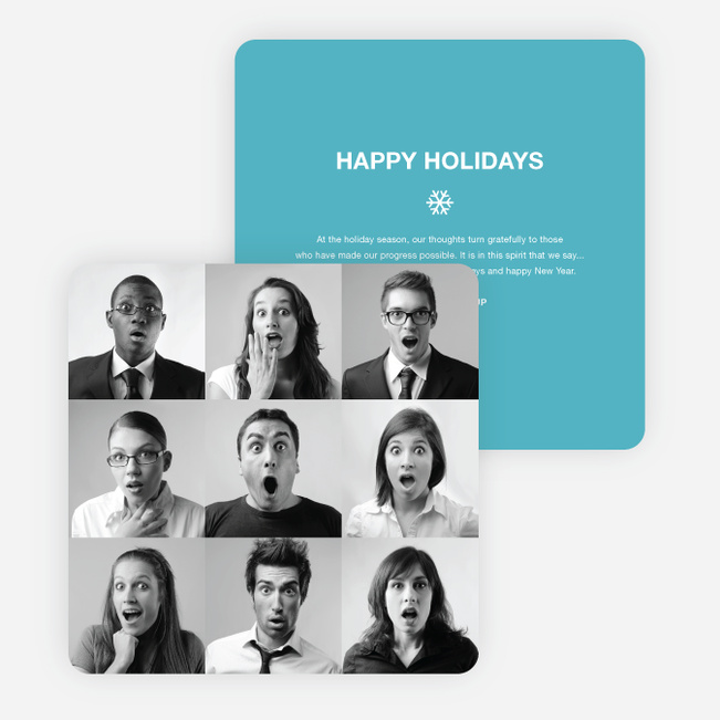 Brady Bunch Squares Holiday Cards For Small Business