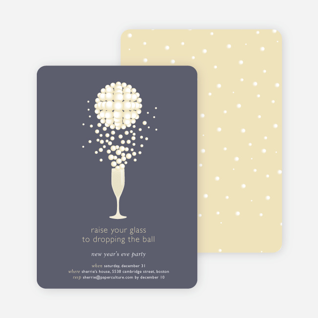 Pop The Champagne New Years Party Invitations Paper Culture