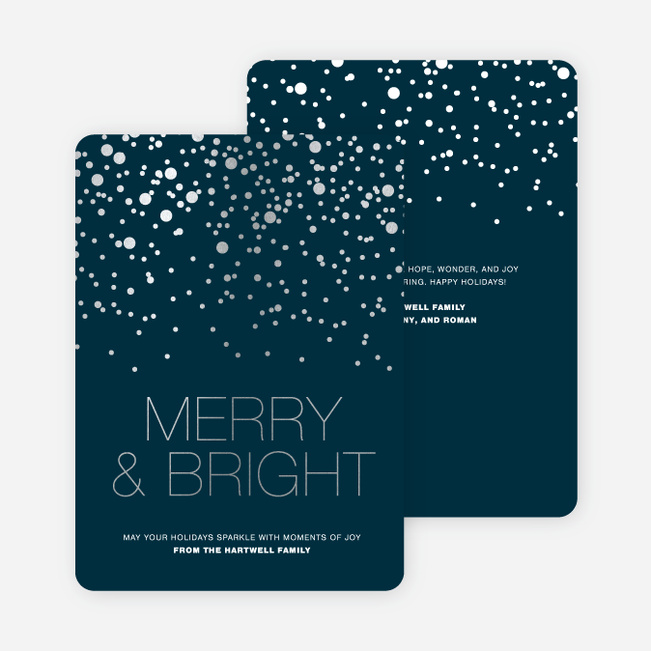 Foil Snow Holiday Cards Paper Culture