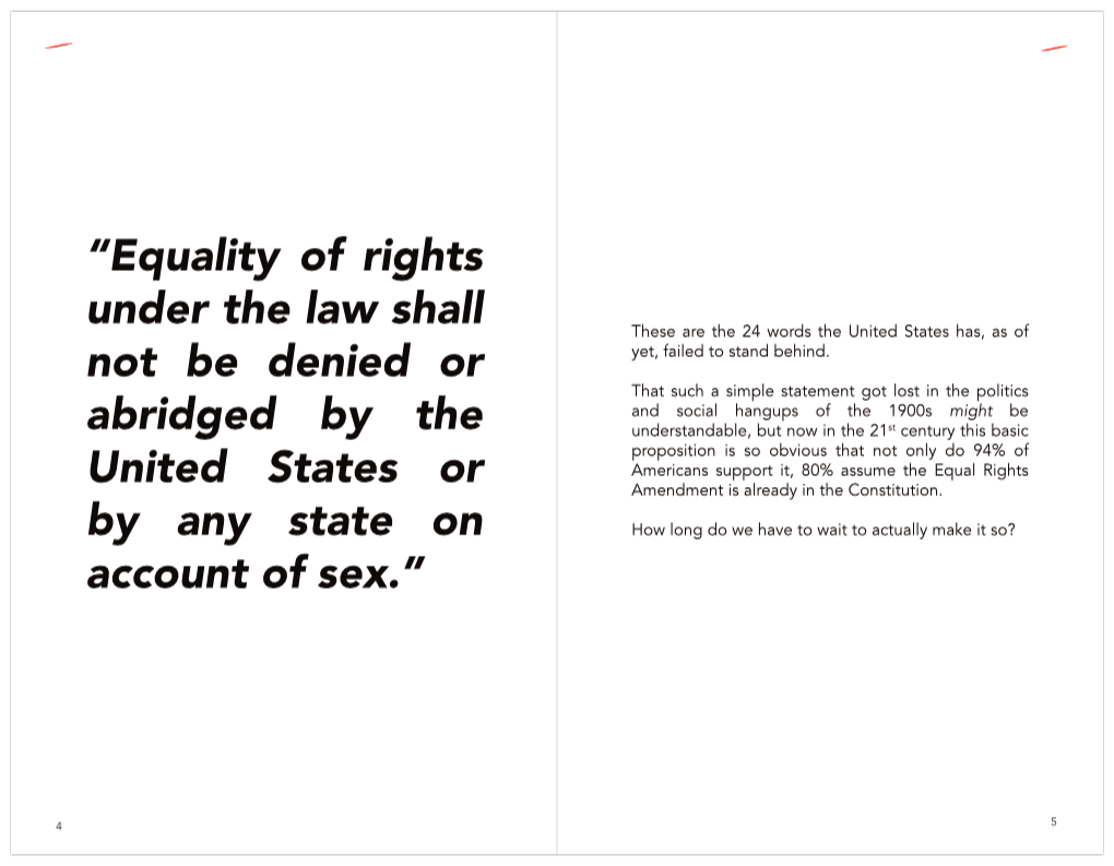 Sample pages from The Papercuts Library #5 - Let's Make the Equal Rights Amendment Unanimous