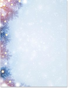 Frosty Winter Border Papers PaperDirects
