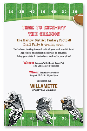 Fantasy Football Invitation PaperDirect Blog