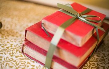 wrapped books